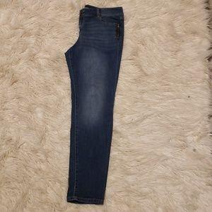 NY&co. Side slot zipper skinnies